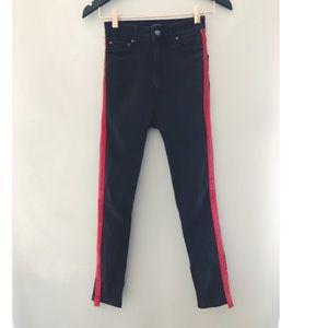 Zara skinny jeans w/stripe detail size 24